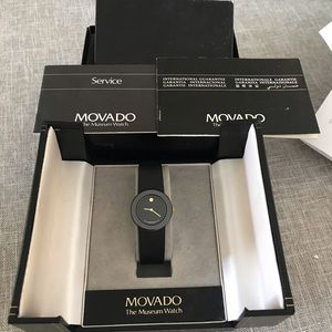 NWT Museum Movado beautiful Watch papers and box